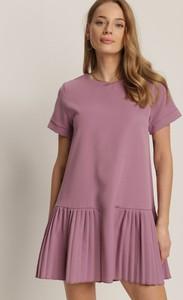 Fioletowa sukienka Renee w stylu casual oversize mini