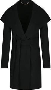 Czarny płaszcz Marella w stylu casual z wełny