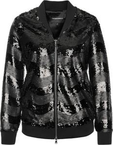 Czarna kurtka Emporio Armani w stylu glamour