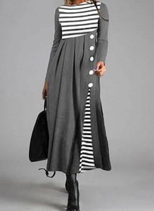 Sukienka Cikelly maxi w stylu casual z okrągłym dekoltem