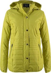 Żółta kurtka bonprix bpc bonprix collection bez wzorów