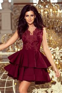 5cfc6d9e9c Sukienka NUMOCO z dekoltem w kształcie litery v rozkloszowana