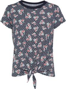 T-shirt michalsky for about you w młodzieżowym stylu z krótkim rękawem w kwiaty