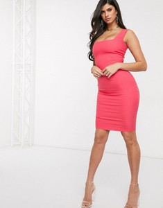 Różowa sukienka Vesper bandażowa midi