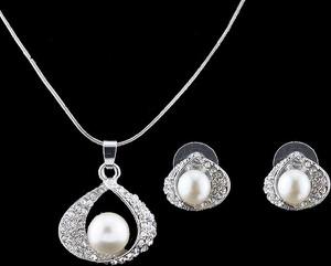 IZMAEL.eu Zestaw Pearl Embrace - Srebrny