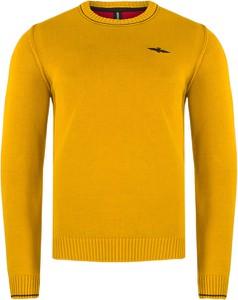 Żółty sweter Aeronautica Militare z dzianiny