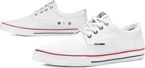 Buty sportowe Tommy Hilfiger w młodzieżowym stylu sznurowane