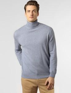 Niebieski sweter Andrew James z kaszmiru