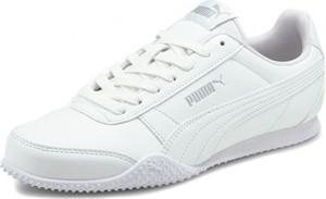 Buty sportowe Puma ze skóry sznurowane z płaską podeszwą
