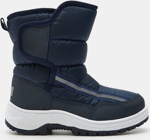 Granatowe buty dziecięce zimowe Sinsay na rzepy
