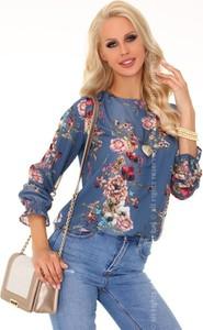 Bluzka MERRIBEL z jeansu z okrągłym dekoltem
