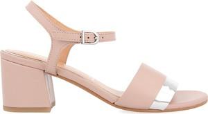 Różowe sandały GIOSEPPO z klamrami