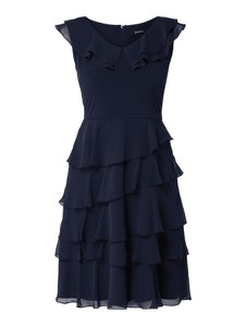Granatowa sukienka Swing rozkloszowana
