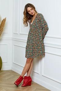 Sukienka Joséfine z dekoltem w kształcie litery v mini w stylu casual