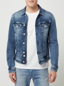 Niebieska kurtka Replay krótka z bawełny