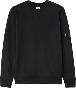 Czarny sweter C.P. Company z okrągłym dekoltem w stylu casual z wełny