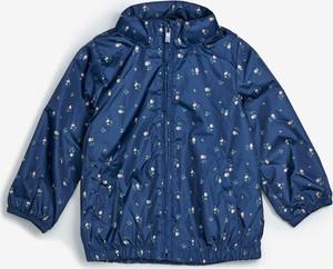 Granatowa kurtka dziecięca Gap z bawełny