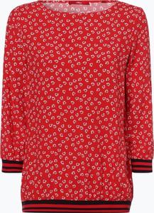 426439b844 Czerwony t-shirt S.Oliver w stylu casual z dzianiny
