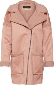 Różowy płaszcz Only w stylu casual