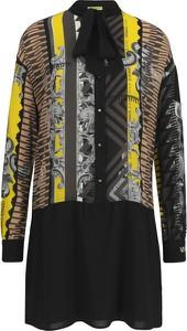 Sukienka Versace Jeans z długim rękawem z jedwabiu