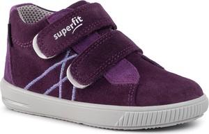 Fioletowe buty dziecięce zimowe Superfit na rzepy