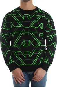 Czarny sweter Emporio Armani z dzianiny
