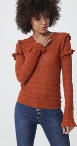Bluzka born2be w młodzieżowym stylu z długim rękawem z okrągłym dekoltem
