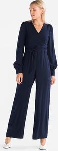 Niebieski kombinezon YESSICA z długimi nogawkami
