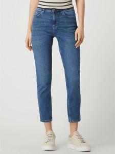 Niebieskie jeansy Pieces z bawełny w street stylu