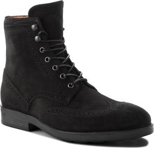 Czarne buty zimowe Fabi sznurowane