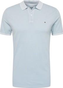Niebieska koszulka polo Calvin Klein z krótkim rękawem