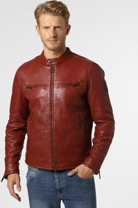 Czerwona kurtka Strellson ze skóry w stylu casual
