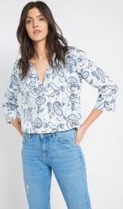 Bluzka ORSAY z tkaniny z długim rękawem z dekoltem w kształcie litery v