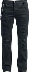Czarne jeansy Doomsday z jeansu