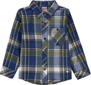 Koszula dziecięca Kanz w krateczkę dla chłopców z bawełny