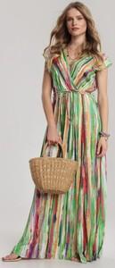 Zielona sukienka Renee midi z krótkim rękawem