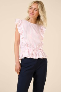 Różowa bluzka ORSAY z okrągłym dekoltem z krótkim rękawem