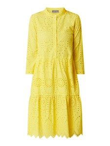 Żółta sukienka White Label z długim rękawem midi z kołnierzykiem