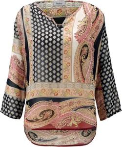 Bluzka Heine z dekoltem w kształcie litery v z długim rękawem