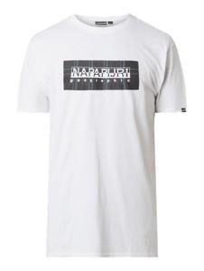 T-shirt Napapijri Tribe Coll z bawełny z krótkim rękawem z nadrukiem