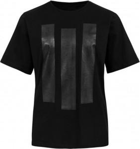 Czarny t-shirt Synthetic 100%natural