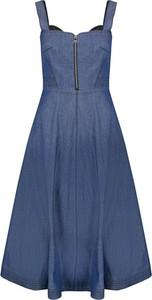 Sukienka Karl Lagerfeld w stylu casual na ramiączkach