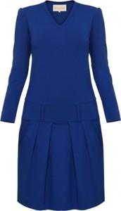 Niebieska sukienka Yuliya Babich w stylu casual mini z dekoltem w kształcie litery v