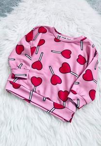 Różowa bluza dziecięca ilovemilk.pl