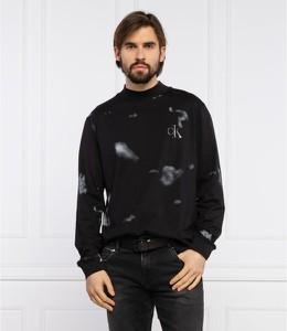 Czarna koszulka z długim rękawem Calvin Klein z bawełny