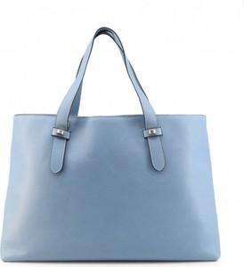 Niebieska torebka Borbonese na ramię duża