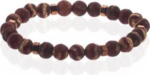 Em Men`s Accessories Bransoletka koraliki brązowa EM 48