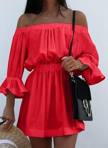 Czerwona sukienka Sandbella w stylu casual mini