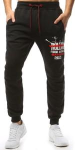 Granatowe spodnie sportowe Dstreet z dresówki