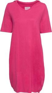 Różowa sukienka bonprix RAINBOW mini